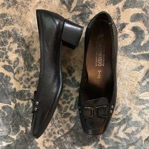 Black Mephisto Loafers/Heels